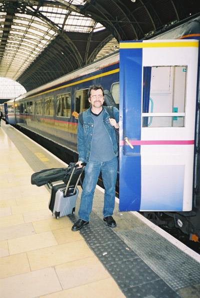 Me arriving back into Paddington, atter a week of ROCK.